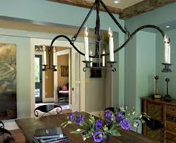 Farmhouse Dining Room Lighting by Villa Design Dining Room Farmhouse With Chandelier Iron