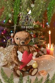 Teddy Bear Christmas Tree Decorations by Brown Teddy Bear In Snow Stock Photos U0026 Pictures Royalty Free