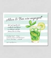 summer cocktail party invitation watercolor 5x7 10 cards per box