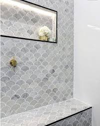bathroom tile trends fish scale natural stone tile trends 2017 home remodel pinterest