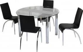 Black Glass Extending Dining Table Extending Glass Dining Tables Dining Furniture Ebay