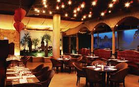 luxury and modern restaurant design with glamourceilling make it
