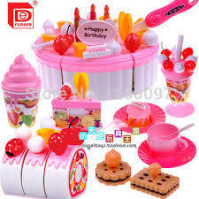free shipping children play house toys large fruit birthday cake