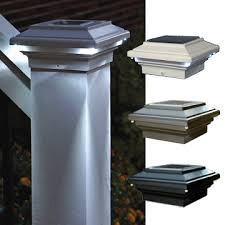 Solar Powered Deck Lights Aries Solar Powered Deck Light For 4x4 Wood Posts