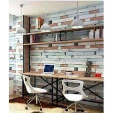 self adhesive waterproof vinyl wallpaper painted wood bricks