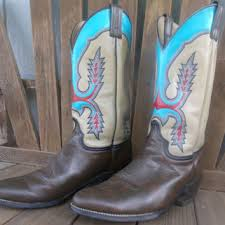 womens cowboy boots size 11 upcycled painted cowboy boots size from lottisunshyne on