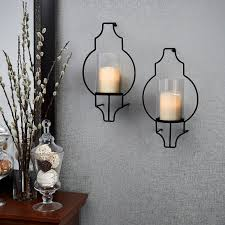 Hurricane Candle Wall Sconces Lights Com Flameless Candles Pillar Candles Moroccan Gate