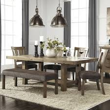 modern dining room square table bench seat wooden gray carpet twin