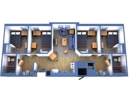 Floor Plan Of An Apartment Fau Innovation Village Apartments North Iva N