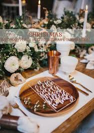wedding place christmas wedding place settings ideas and inspiration