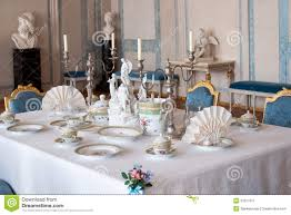 dining table setting stock image image 31671611