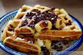 farm fresh feasts pumpkin eggnog waffles with chocolate chips