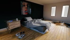 modern minimal bedroom design blender