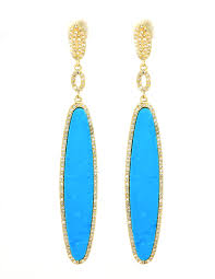 turquoise earrings diamond oval turquoise earrings colored earrings