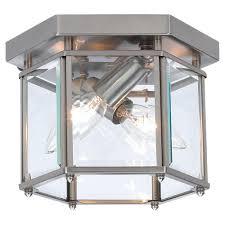 Glass Ceiling Fixture by Brass Flushmount Lights Ceiling Lights The Home Depot