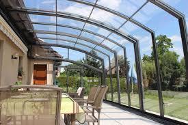 verre pour veranda abri de terrasse topaz à pans droits la solar véranda topas