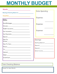 printable budget planner template free monthly family budget budgeting organizations and organizing