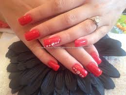 eye candy nails u0026 training full set of acrylic with red gel
