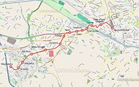Map Of Florence Italy Florence Map Tram Stops To The City Center T1 Tramvia Line 1