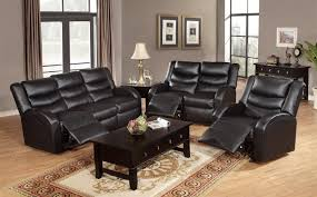 leather reclining sofa loveseat faux black leather reclining couch which adorned with dark brown