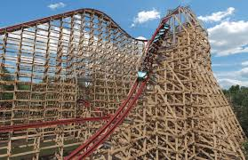 speed of roller coaster wood and steel roller coaster plus winter event coming