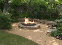 Lava Rocks For Fire Pit by Best 20 Rock Fire Pits Ideas On Pinterest Backyard Pool