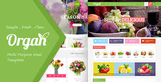 Flower Store Organ Food Store Flower Shop Responsive Html5 Template By Themessoft