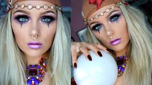 Evil Doll Halloween Makeup by Glam Fortune Teller Halloween Makeup Tutorial 2016 Youtube