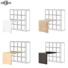 bureau ikea expedit ikea kallax desk home office various colours 115x76cm ebay