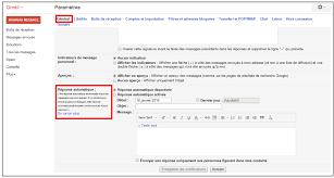 message d absence de bureau créer un message automatique en cas d absence avec gmail je me