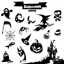 Drawing Of Halloween Vector Collection Of Halloween Elements Pumpkin Head Witch