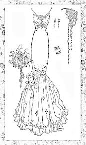 wedding dress coloring pages 42 best wedding bride coloring pages images on pinterest