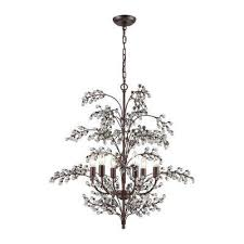 Antique Chandeliers Sydney Candle Style Brown Chandeliers Hanging Lights The Home Depot