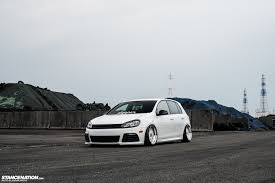 white volkswagen gti in white yasunobu u0027s usdm style vw golf stancenation