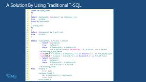 Dbi309 Using Sql Server 2012 Window Functions To Solve Common T