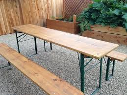 german beer garden table and bench narrow picnic table sanded and stained our german beer garden