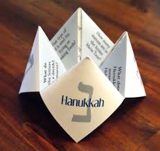hanukkah cootie catcher hannukah card decoration dreidel