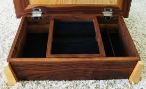 Wooden Jewellery Box Plans Free by Kevin Blake Designs Walnut And Birdseye Jewelry Box