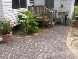 Backyard Stone Ideas Good Looking Home Exterior Decorations Of Front Porch Pavers