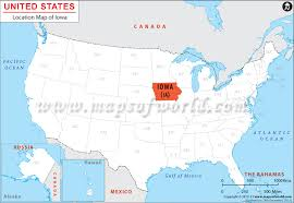 map us iowa where is iowa location of iowa