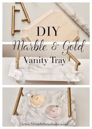 Accent Home Decor Diy Marble U0026 Gold Vanity Tray Easy And Beautiful Home Decor