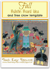 teach easy resources fall bulletin board idea and free crow template