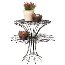 two tier halloween spider web cupcake display stand woodwaves