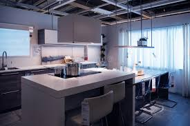 kitchen furniture shopping ikea kitchen store model home shopping editorial photo image of