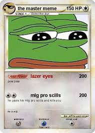 Lazer Meme - pokémon the master meme lazer eyes my pokemon card
