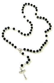black rosary majestic black rosary
