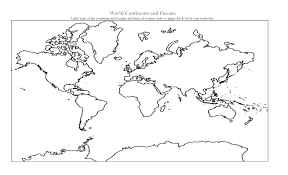 Blank Oceans And Continents Map by Coloring Pages 7 Continents
