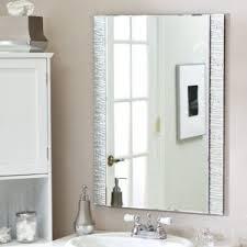Frameless Bathroom Mirror Large Hang Large Frameless Bathroom Mirror Http 8diet Info