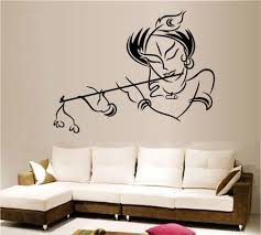 decals design krishna wall sticker pvc vinyl 50 cm x 70 cm