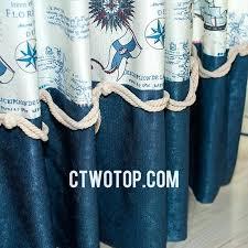 Nautical Curtain Fabric Nautical Curtain Valance Best Quality Shabby Chic Room Boys